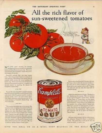 "Campbell's Tomato Soup Color Ad ""All the Rich... (1928)"