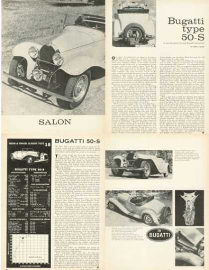 Road Test 1931 Bugatti 50-s Roadster Article (1958)
