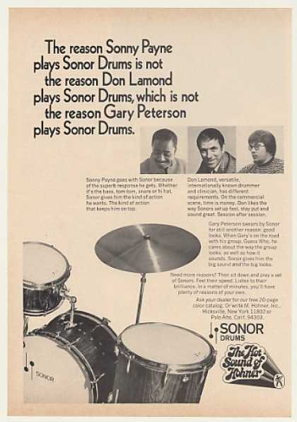 Sonny Payne Don Lamond Gary Peterson Sonor Drum (1970)