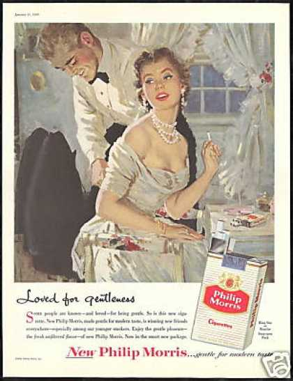 Elegant Couple Philip Morris Cigarette (1956)