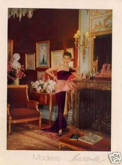Modess Ad Lady In Purple Gown (1952)