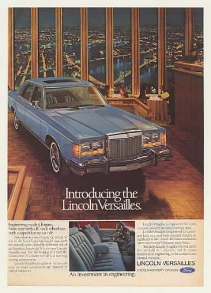 Lincoln Versailles Windows on the World WTC NY (1977)
