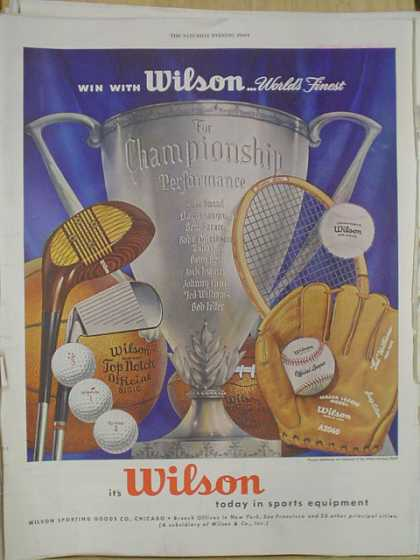 Wilson Sports Equipment Championship performance (1952)