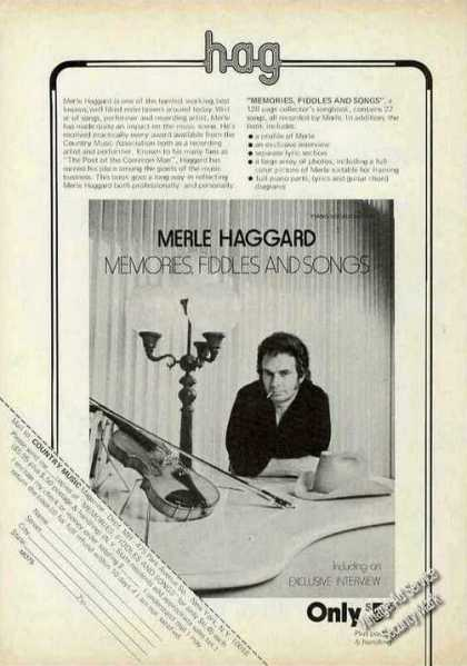 "Merle Haggard ""Memories Fiddles & Songs"" Album (1975)"
