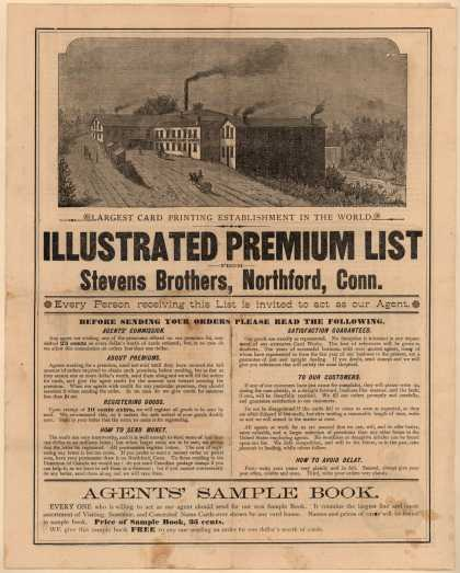 Stevens Bros.'s Agents' Sample Book – Illustrated Premium List