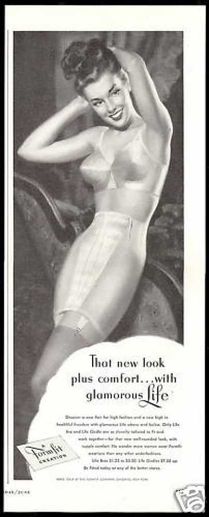 Formfit High Fashion Bra Girdle Lingerie (1948)