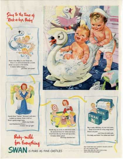 Swan Bath Soap Babies Cute Sailor Baby T (1945)