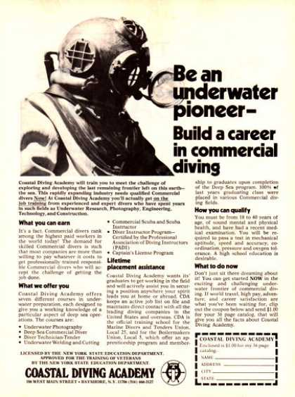 Coastal Diving Academy Copper Helmet Ad T (1979)