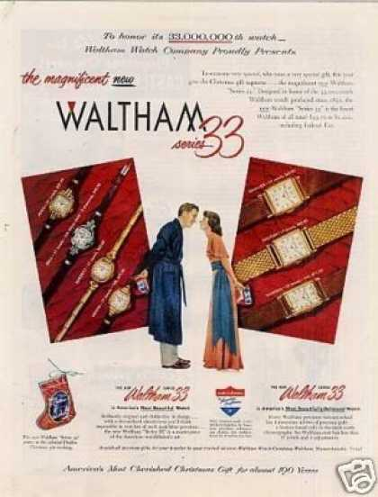 Waltham Series 33 Watches (1948)