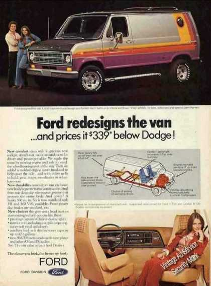Ford Redesigns the Van Interior/exteri (1975)