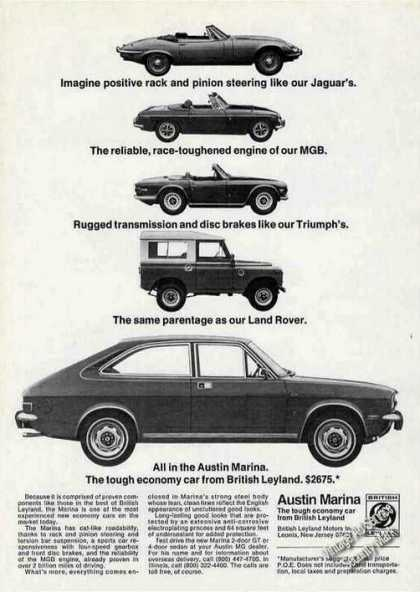 Austin Marina Economy Car From British Leyland (1973)