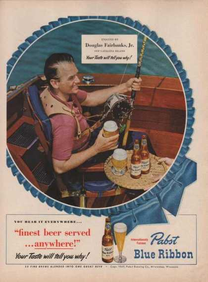 Douglas Fairbanks Jr Pabst Blue Ribbon Bee (1949)