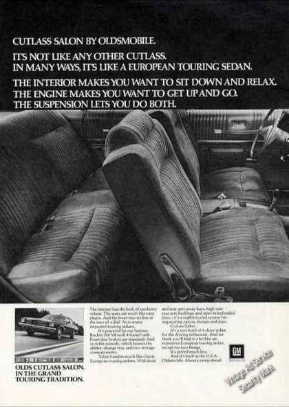 Oldsmobile Cutlass Salon Interior Photo (1973)