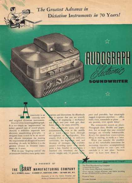 Audograph Electronic Soundwrite (1947)