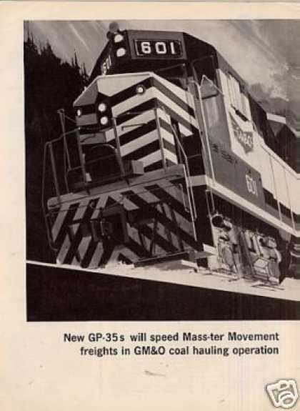 Gm/emd Ad Gulf Mobile & Ohio Gp-35's (1963)