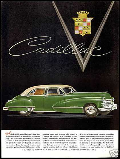 Cadillac Two Tone 4 Dr Car Vintage (1948)