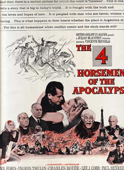 The 4 Horsemen of the Apocalypse (Glenn Ford, Charles Boyer, Lee J. Cobb, Paul Henreid, Ingred Thulin and Yvette Mimieux) (1962)