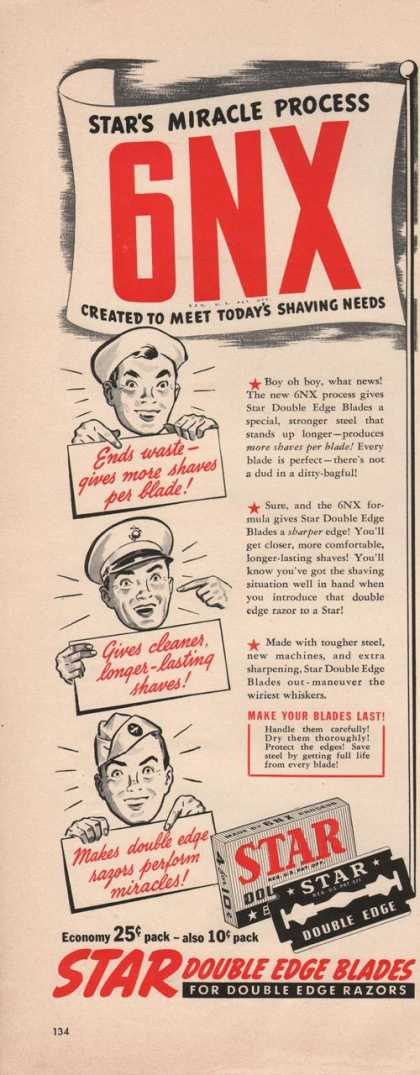 Star Double Edge Razor Blades (1942)