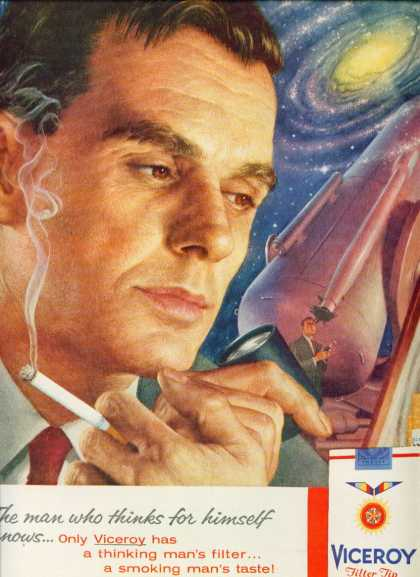 Viceroy Filter Tip Cigarettes With Astronomer (1959)