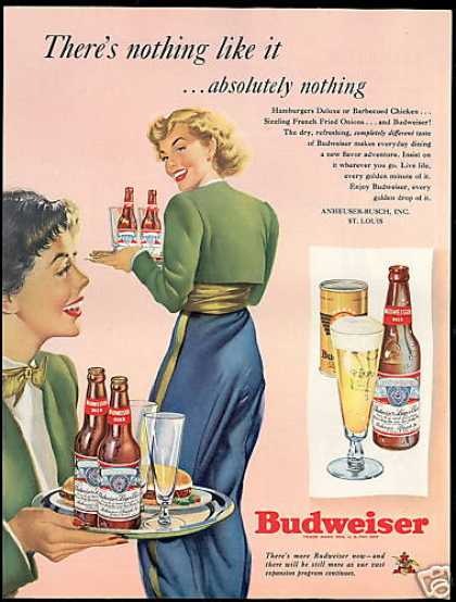 Budweiser Beer Pretty Woman Waitress (1949)