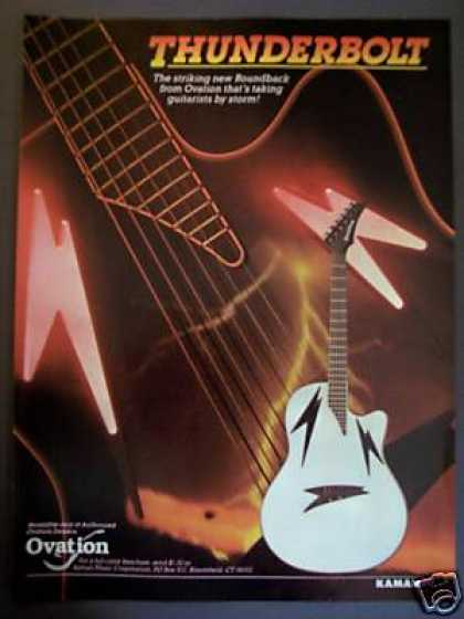 Ovation Thunderbolt Guitar Art (1988)
