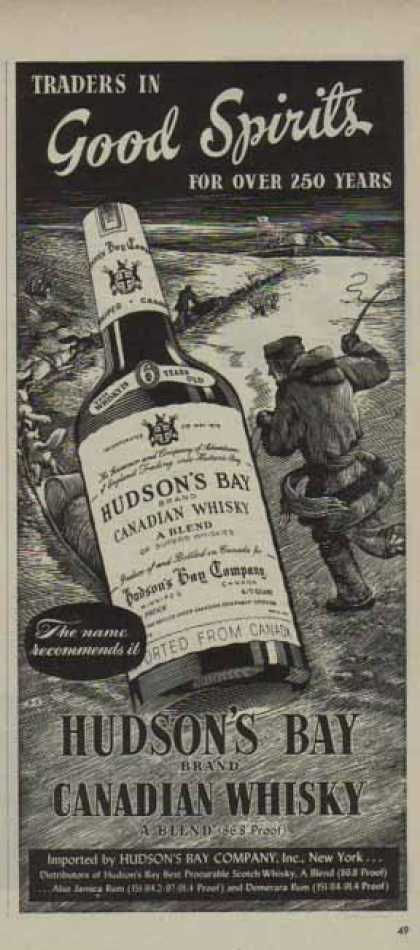 Hudson's Bay Canadian Whisky – Good Spirits (1951)