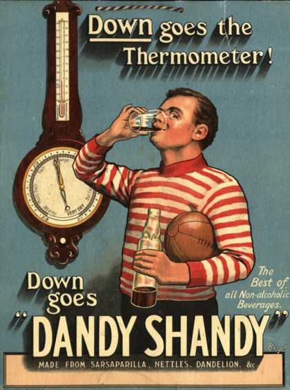 Dandy Shandy Sarsaparilla Rugby Weather, UK (1920)