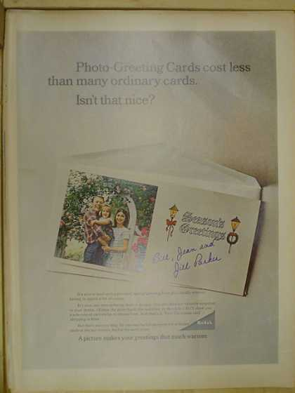 Kodak photos. Photo greeting cards (1968)