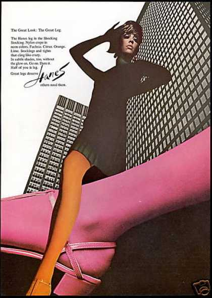 Hanes Nylons Hosiery Great Legs Pretty Woman (1967)