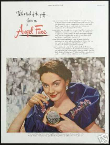 Pretty Woman Pond's Angel Face Powder Makeup (1949)