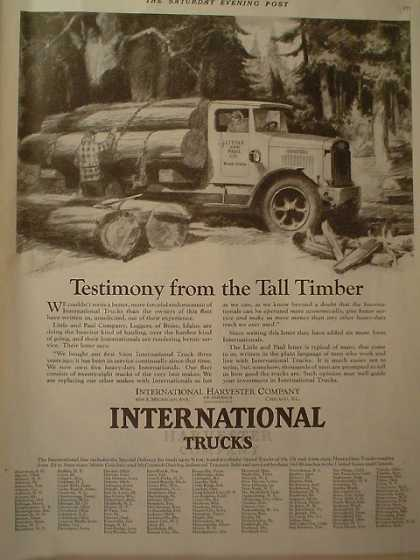 International Trucks Tall Timber and Hamilton Watches Railroad (1928)