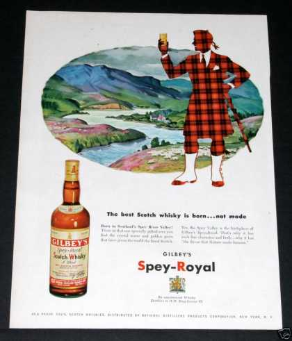 Gilbey's Spey-royal Whisky (1952)