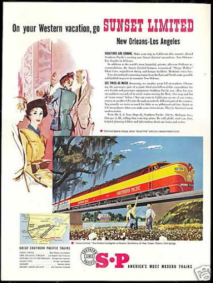 SP Southern Pacific Train Railroad Vintage (1951)