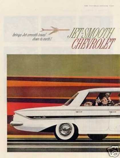 Chevrolet Impala 4-door Sport Sedan Ad 2 Page (1961)