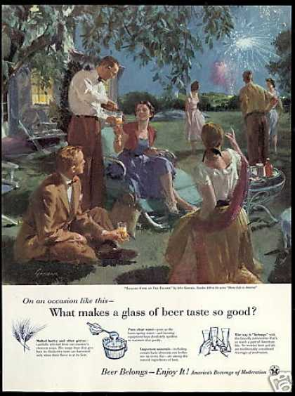 Brewers Foundation Gannam Art 4th of July Beer (1955)