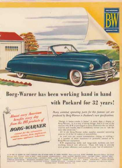 Packard Convertible Car – Blue – Borg Warner Parts (1947)