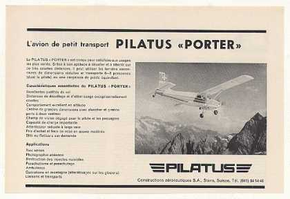 Pilatus Porter Airplane Aircraft French (1960)