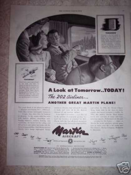Martin Aircraft Since 1909 the 202 Airliner (1948)