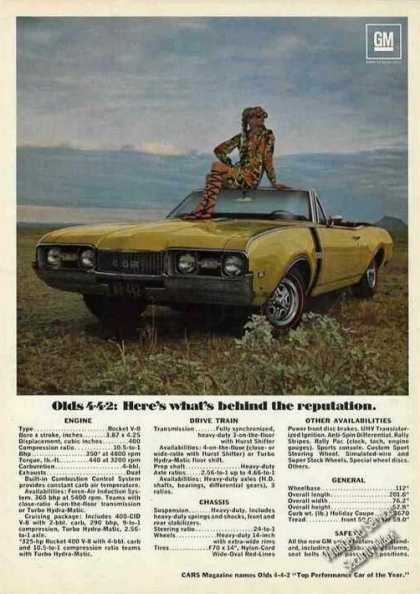 Olds 4-4-2 Color Photo & Specifications (1968)
