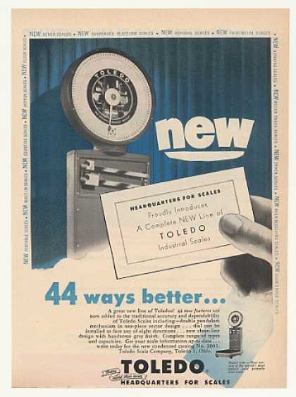 Toledo Scale Model 2181 44 Ways Better (1953)