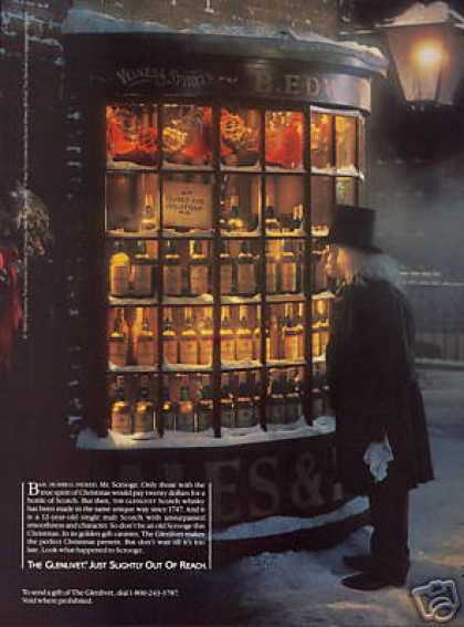 Mr Scrooge Christmas Glenlivet Scotch Whisky (1986)