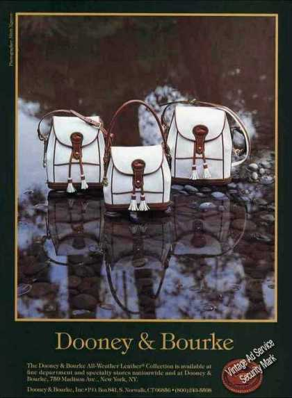 Dooney & Bourke White Handbags Fashion (1992)