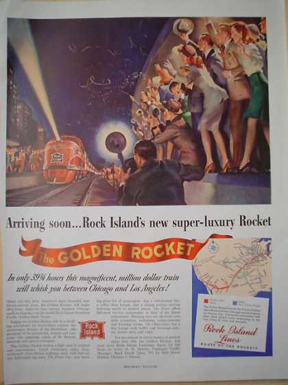 Rock Island Railroad The Golden Rocket Super luxury AND American Express Nova Scotia (1947)