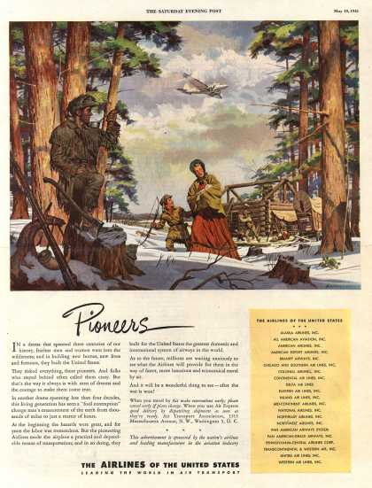 The Airlines of the United State's Air Travel – Pioneers (1945)