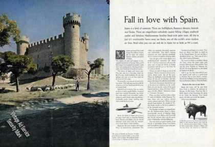 Castle of Olmillos De Sasamon Spain Travel (1963)
