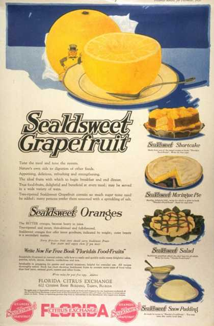 Sealdsweet Grapefruit, USA (1910)
