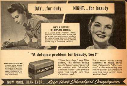 Palmolive Company's Palmolive Soap – Day...for duty, Night...for beauty (1942)