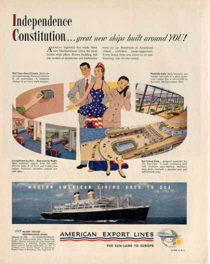 American Export Lines Independence Boat (1950)