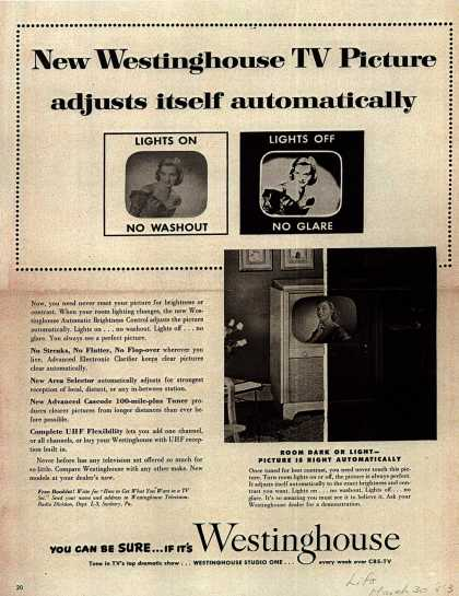 Westinghouse Electric Corporation's Television – New Westinghouse TV Picture adjusts itself automatically (1953)