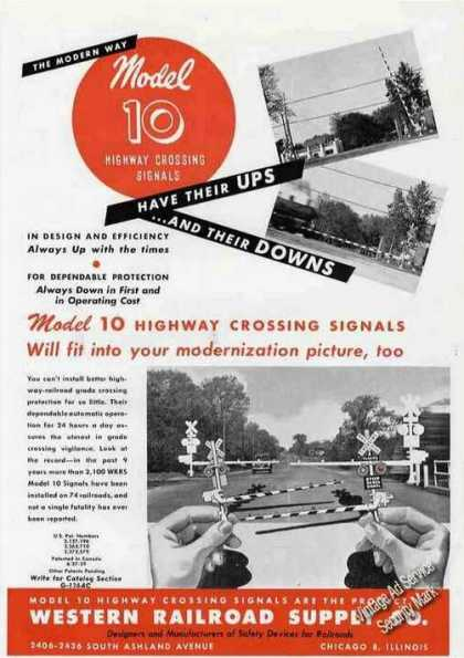 Model 10 Highway Crossing Signals Western Rr (1946)